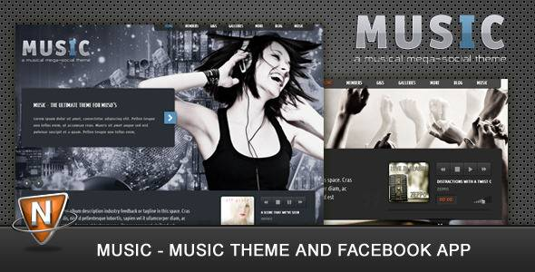Music, un tema para músicos + aplicación Facebook - WordPress Directo