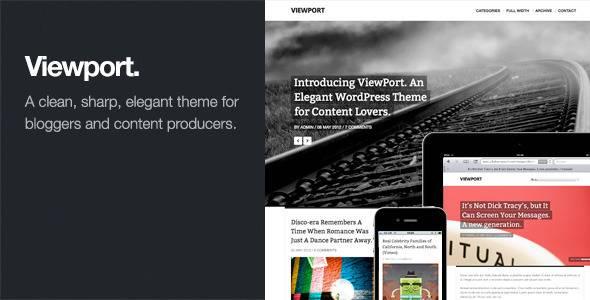Viewport, plantilla WordPress adaptable para revistas - WordPress ...