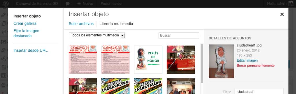 gestor multimedia carnaval de herencia
