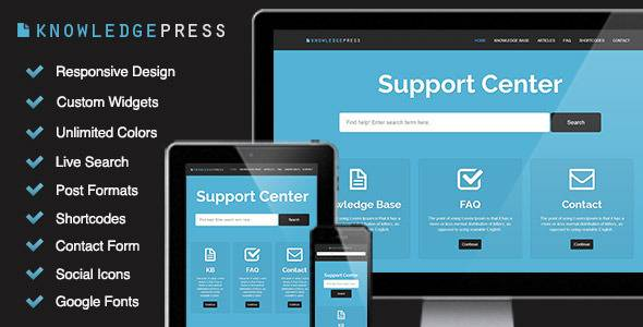 knowledgepress wordpress theme