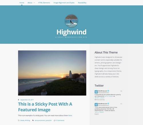 Highwind nueva plantilla de WordPress