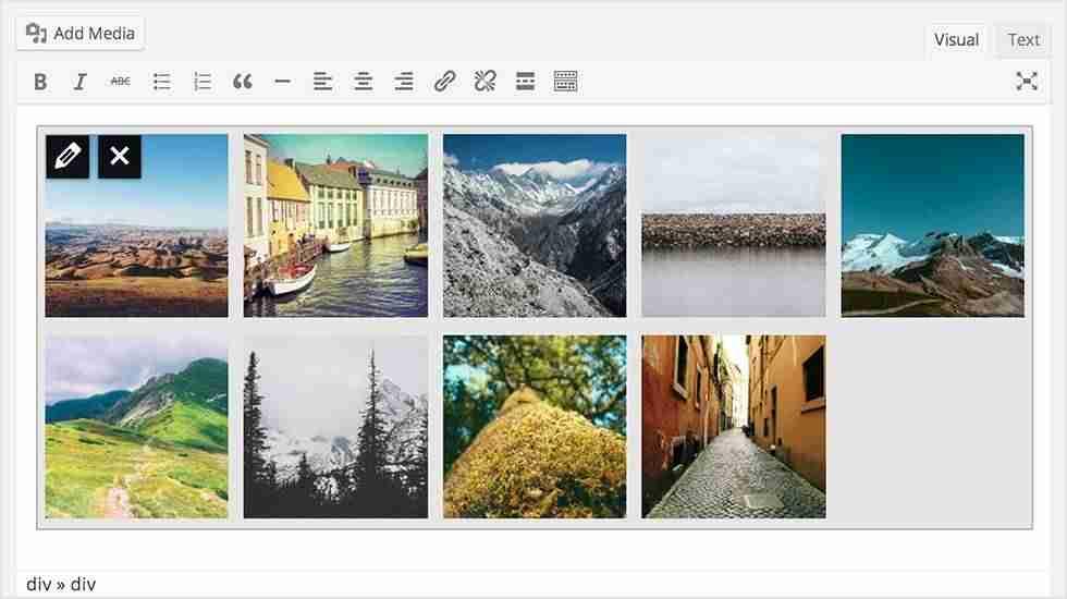 vistas previas de galerias en wordpress