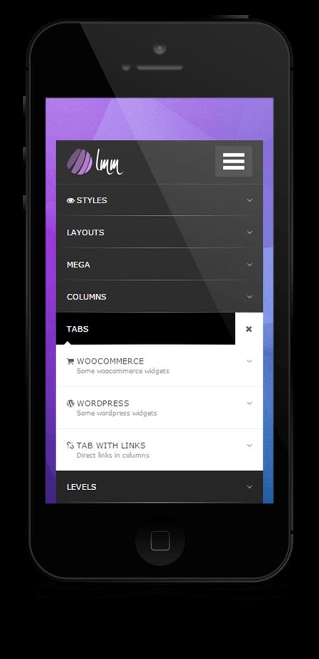 mega menu responsive