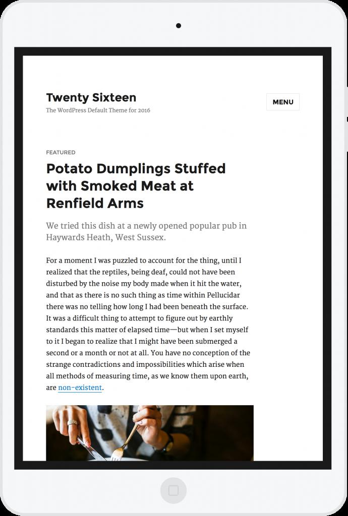 Twenty Sixteen el nuevo tema por defecto de WordPress 4.4 13 ...