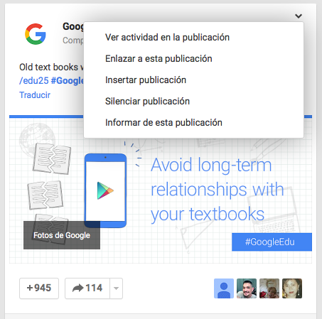 Insertar publicacion de Google Plus en WordPress
