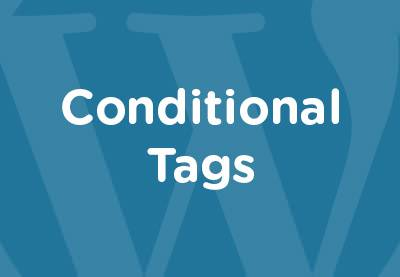 conditional tags wordpress