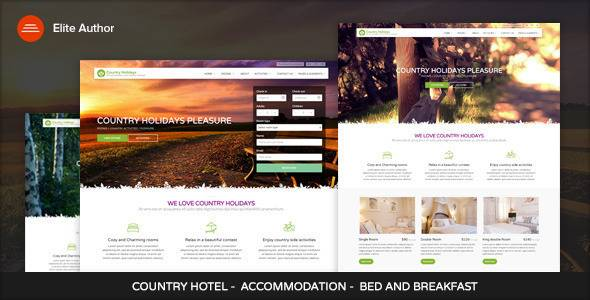 Plantillas de WordPress para hoteles - Country Hotel