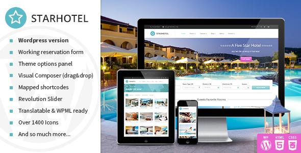 Plantillas de WordPress para hoteles - Starhotel