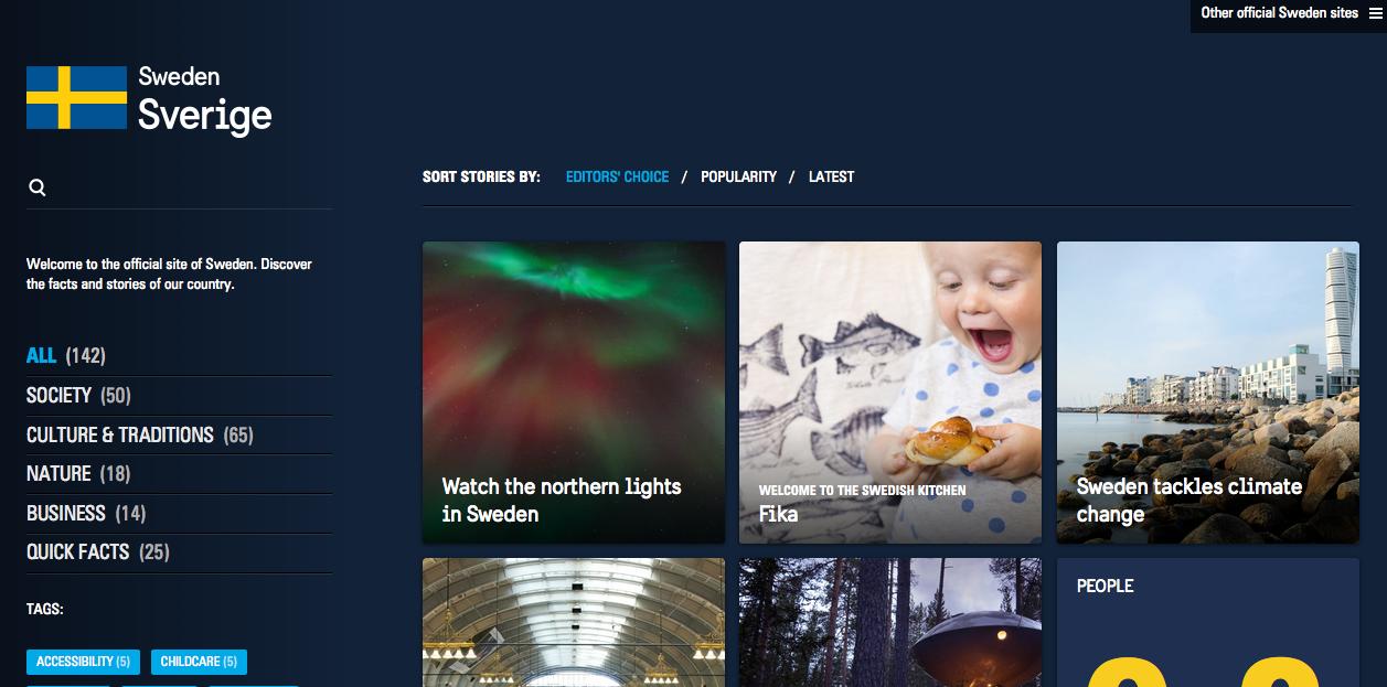 Webs famosas desarrolladas con WordPress - Suecia