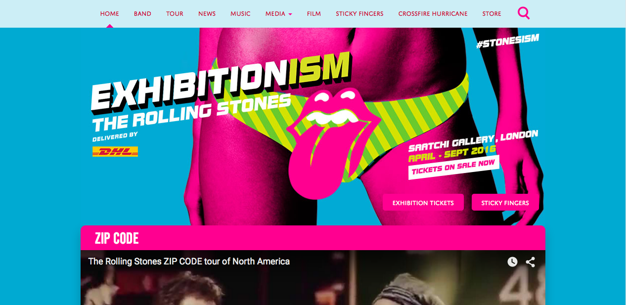 Webs famosas desarrolladas con WordPress - The Rolling Stones