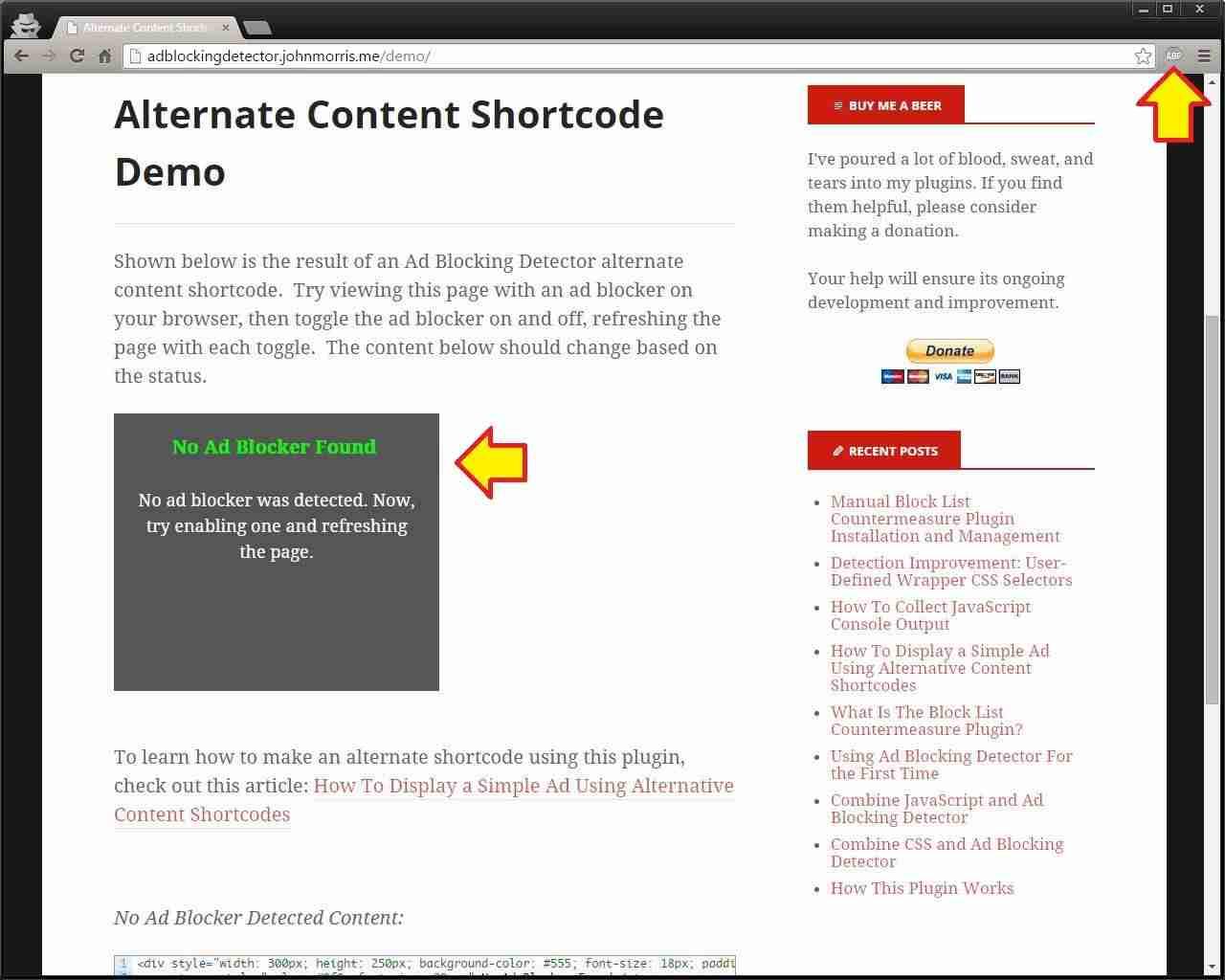 Cómo detectar usuarios que tienen instalado AdBlock en WordPress - Plugin Ad Blocking Detector