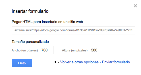 Google Forms en WordPress