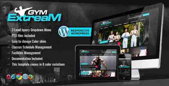 Las mejores plantillas de WordPress para un gimnasio - Gym Extream
