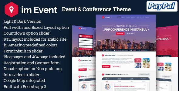 Las mejores plantillas de WordPress para eventos - im Event