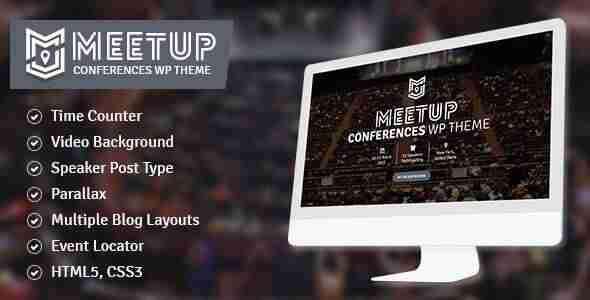 Las mejores plantillas de WordPress para eventos - Meetup