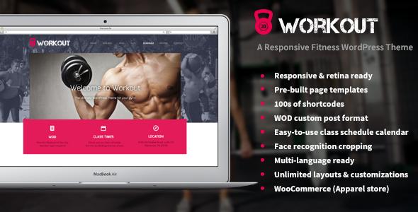 Las mejores plantillas de WordPress para un gimnasio - Workout
