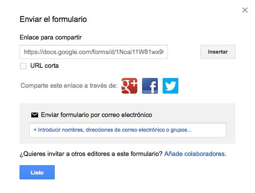 Cómo integrar un formulario de Google Forms en WordPress - Enviar el formulario