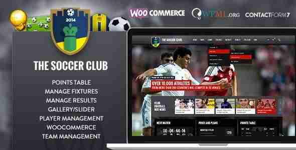 Plantillas de WordPress para equipos de fútbol - The Soccer Club 4f15d1a9cb1d5