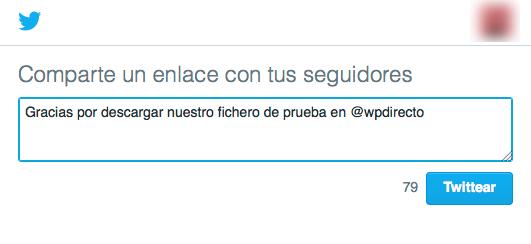Cómo añadir el botón de Pagar con un tweet en WordPress