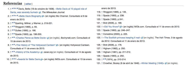 Captura de enlaces externos de Wikipedia