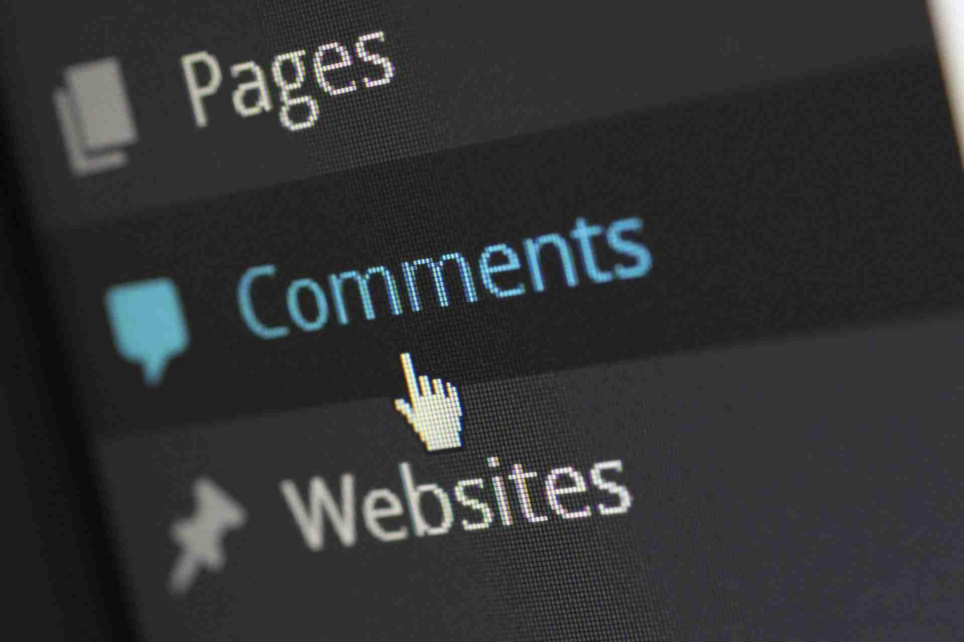 Cómo deshabilitar el autolink en los comentarios de WordPress - Menú comentarios