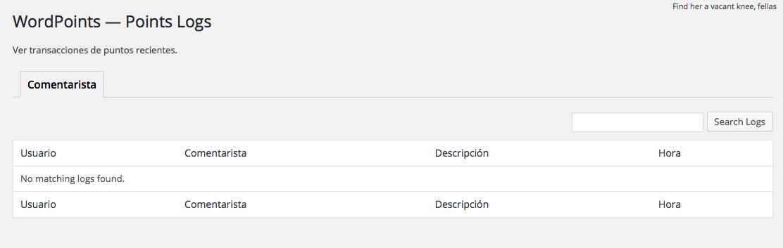 Cómo gamificar WordPress añadiendo un sistema de puntos - Registro de Puntos