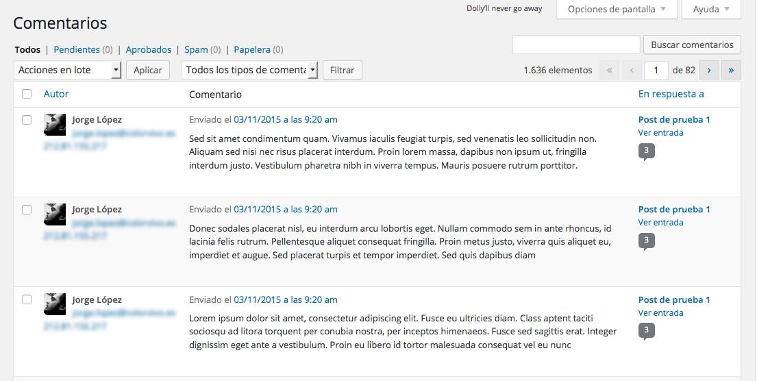 Cómo mover comentarios entre posts de WordPress