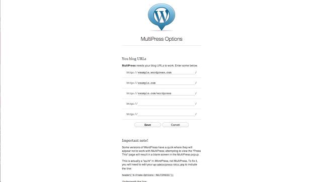 Extensión MultiPress