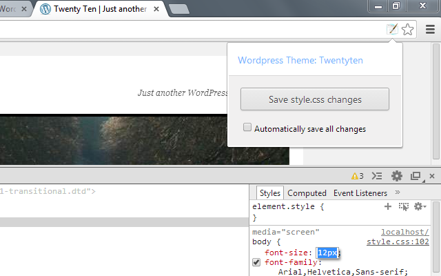 Extensión WordPress Style Editor