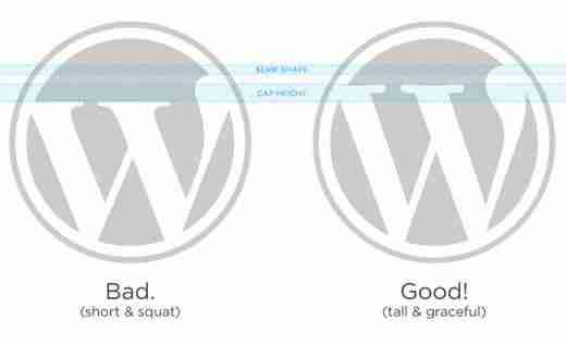 Logo de WordPress - Diferencias entre logo oficial y logo imitado