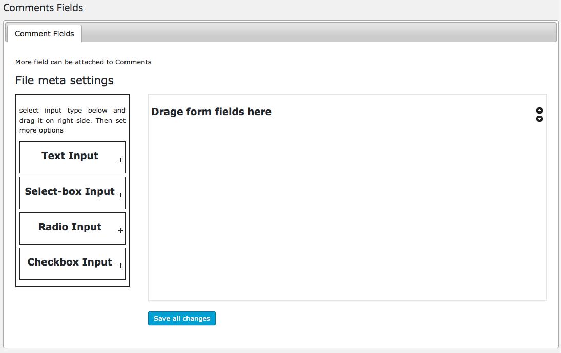 Formulario de comentarios - Añadir tipo de campos
