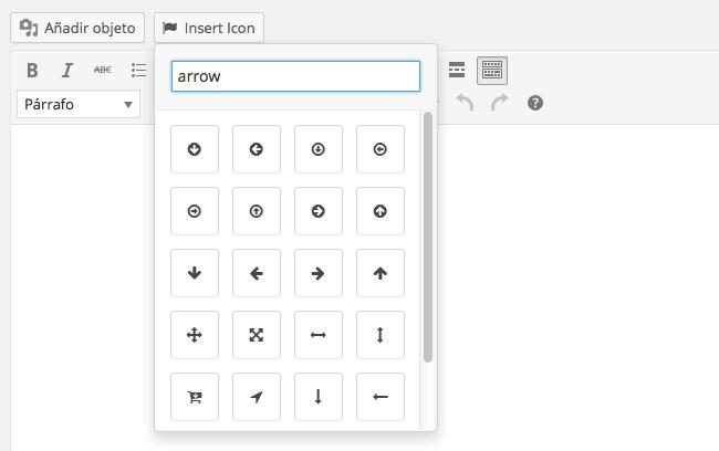 fuente de iconos - Añadiendo icono