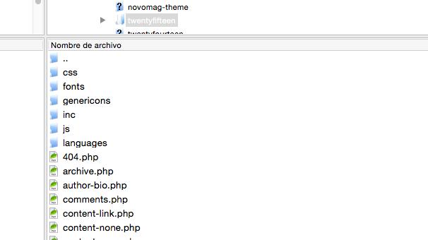 fuente de iconos - Creando carpeta fonts en el FTP