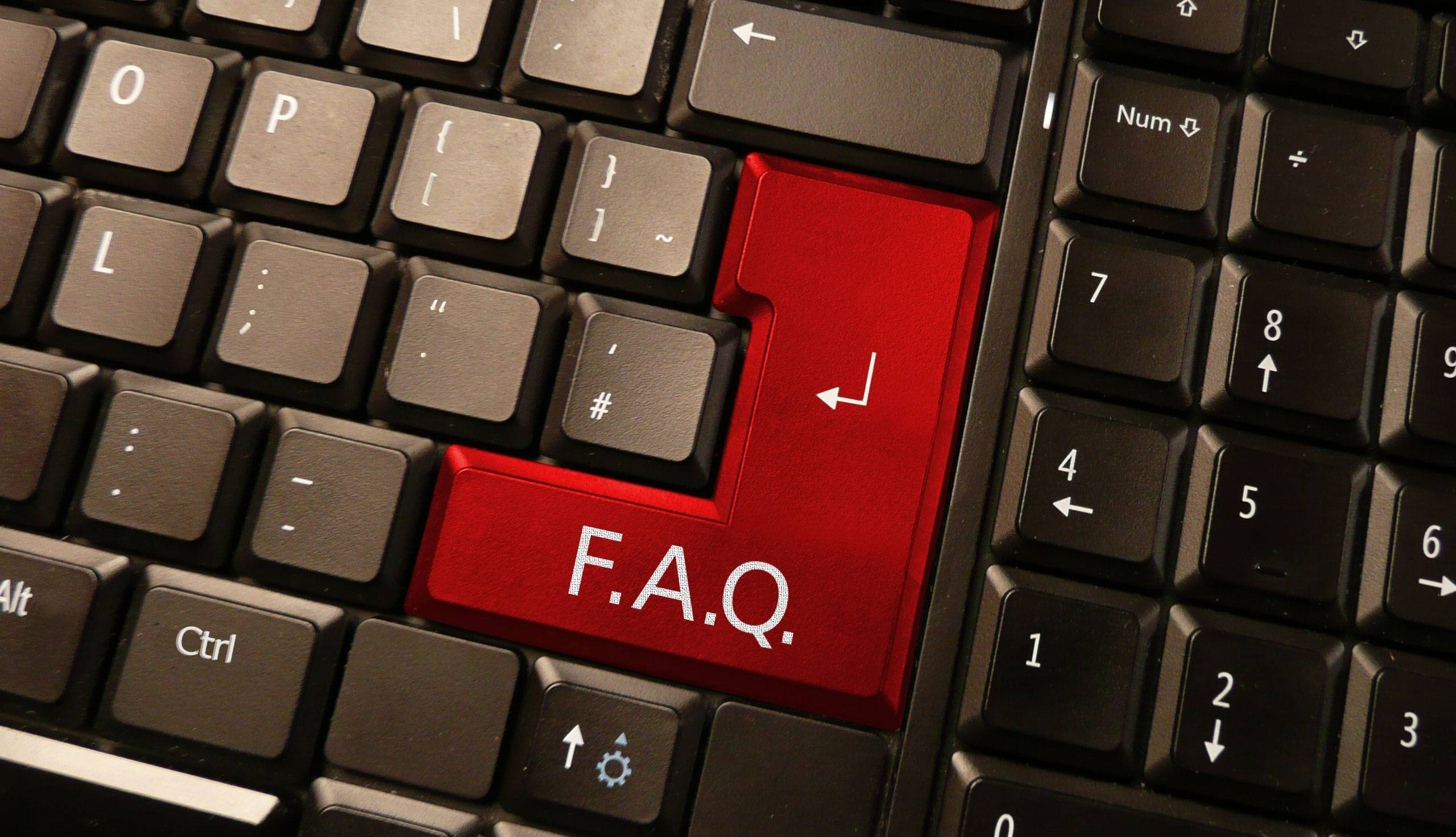 FAQ en WordPress - FAQ en un teclado