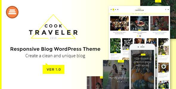 plantillas de WordPress para un blog de viajes - Plantilla CookTraveler