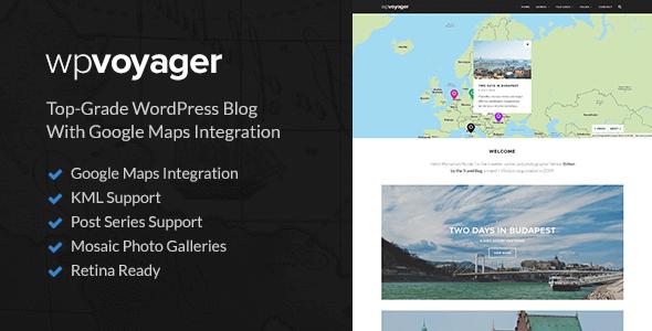 plantillas de WordPress para un blog de viajes - Plantilla wpvoyager