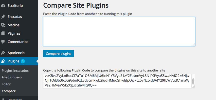 Comparar plugins - Campo de texto