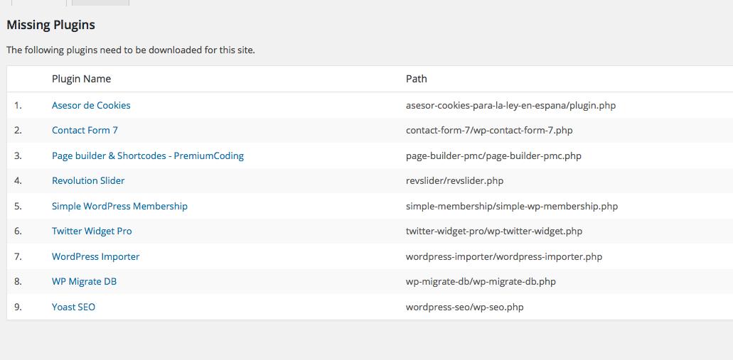 Comparar plugins - Diferencias de plugins entre sitios