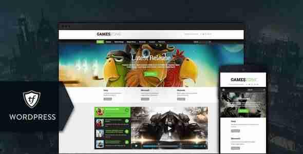 Plantillas de WordPress para un blog de videojuegos - Games Zone
