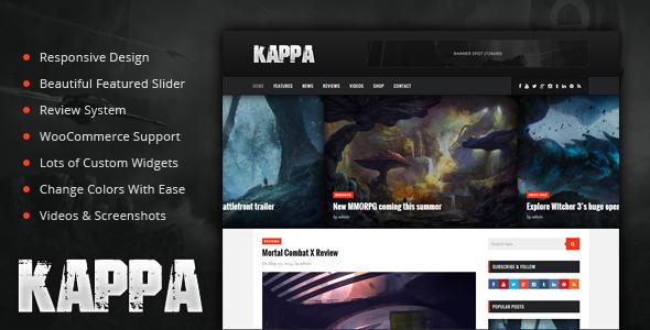Plantillas de WordPress para un blog de videojuegos - Kappa