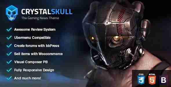Plantillas de WordPress para un blog de videojuegos - CrystalSkull