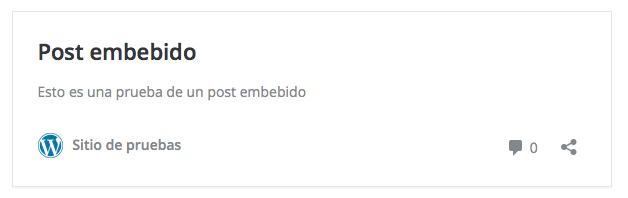 posts de WordPress - Post embebido sin favicon