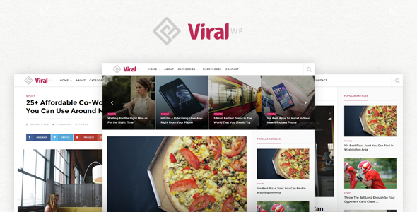 Plantillas de WordPress para un blog de contenidos virales - Viral WP