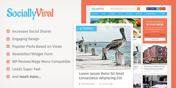 Plantillas de WordPress para un blog de contenidos virales - SociallyViral