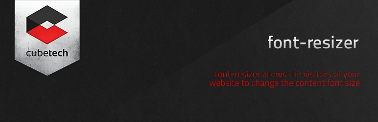 Plugins de WordPress - font-resizer