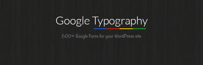 Plugins de WordPress - Google Typography