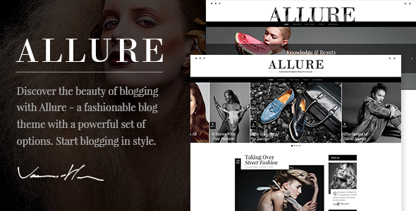 Plantillas de WordPress para un blog de moda - Allure