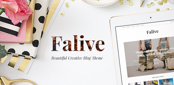 Plantillas de WordPress para un blog de moda - Falive
