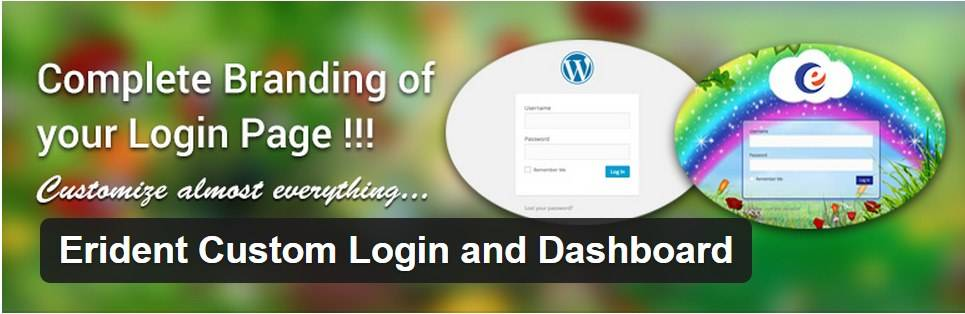 Login de WordPress - Erident Custom Login and Dashboard