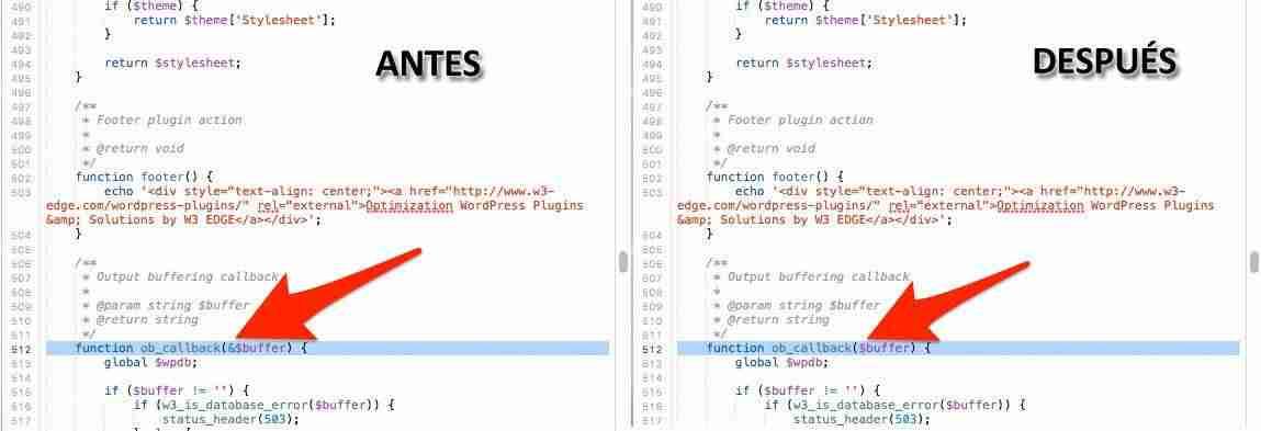 Cambios en W3 total Cache con PHP 7